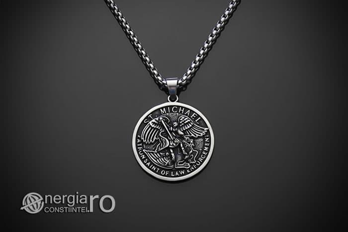amuleta-talisman-medalion-colier-pandant-pandantiv-sfantul-sf-mihail-inox-PND281-01