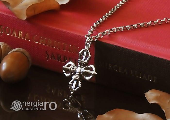 amuleta-talisman-medalion-colier-pandant-pandantiv-cruce-dublu-vajra-dorje-argint-PND955-03