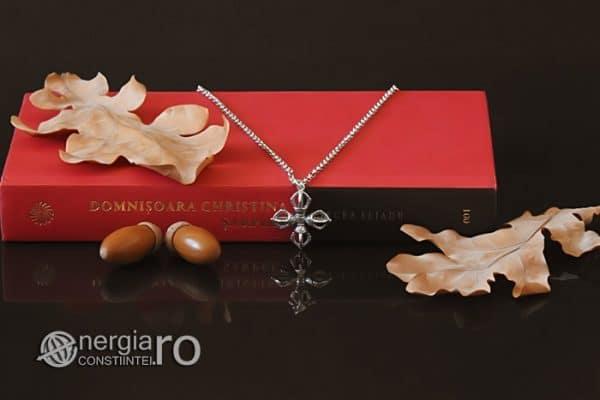 amuleta-talisman-medalion-colier-pandant-pandantiv-cruce-dublu-vajra-dorje-argint-PND955-04