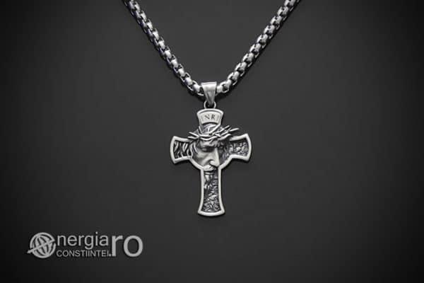 amuleta-talisman-medalion-colier-pandant-pandantiv-crucifix-cruce-cruciulita-isus-iisus-cristos-hristos-inox-PND189-01