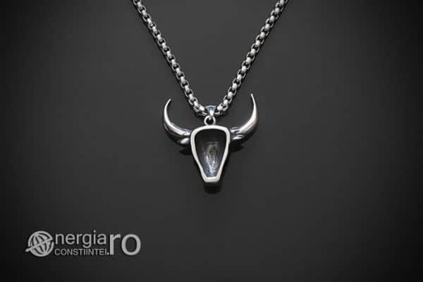 amuleta-talisman-medalion-colier-pandant-pandantiv-cap-de-bour-taur-bou-cristal-turcoaz-protector-protectie-curaj-inox-PND252-02