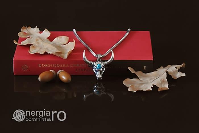 amuleta-talisman-medalion-colier-pandant-pandantiv-cap-de-bour-taur-bou-cristal-turcoaz-protector-protectie-curaj-inox-PND252-05