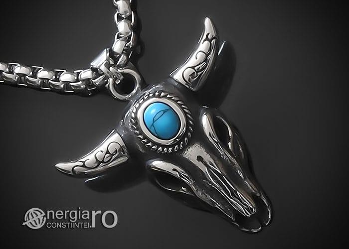 amuleta-talisman-medalion-colier-pandant-pandantiv-cap-de-bour-taur-protectie-protector-protectie-cristal-cuart-inox-PND253-00