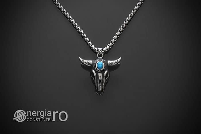 amuleta-talisman-medalion-colier-pandant-pandantiv-cap-de-bour-taur-protectie-protector-protectie-cristal-cuart-inox-PND253-01