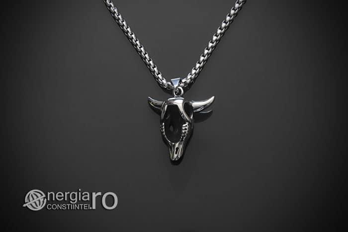 amuleta-talisman-medalion-colier-pandant-pandantiv-cap-de-bour-taur-protectie-protector-protectie-cristal-cuart-inox-PND253-02