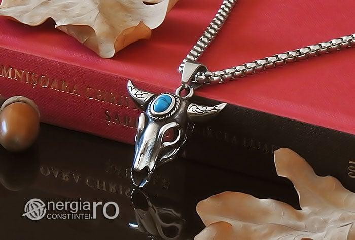 amuleta-talisman-medalion-colier-pandant-pandantiv-cap-de-bour-taur-protectie-protector-protectie-cristal-cuart-inox-PND253-04