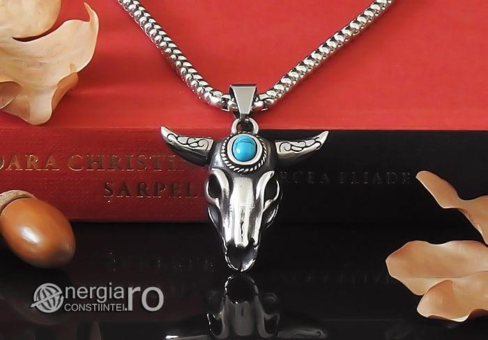 amuleta-talisman-medalion-colier-pandant-pandantiv-cap-de-bour-taur-protectie-protector-protectie-cristal-cuart-inox-PND253-06