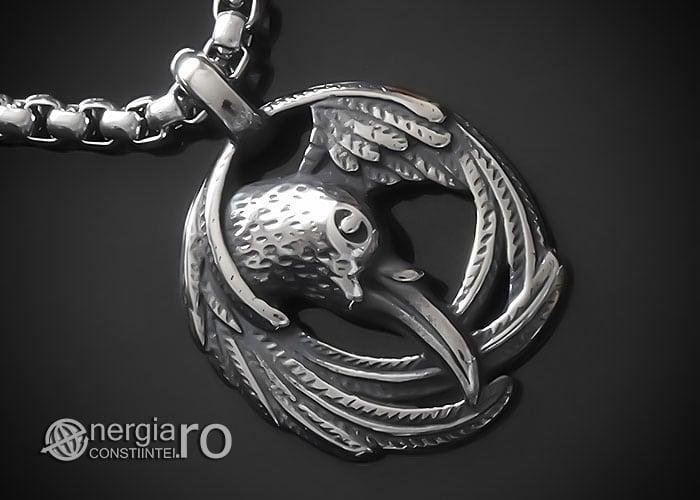 amuleta-talisman-medalion-colier-pandant-pandantiv-corb-cioara-inox-longevitate-PND295-00