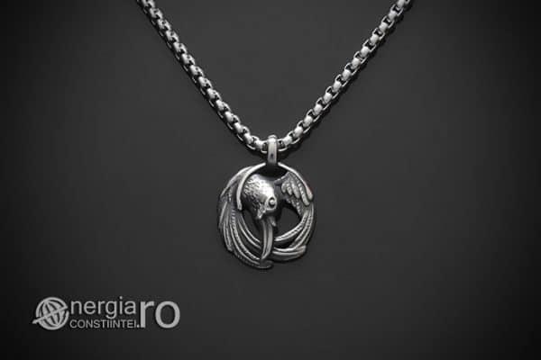 amuleta-talisman-medalion-colier-pandant-pandantiv-corb-cioara-inox-longevitate-PND295-01