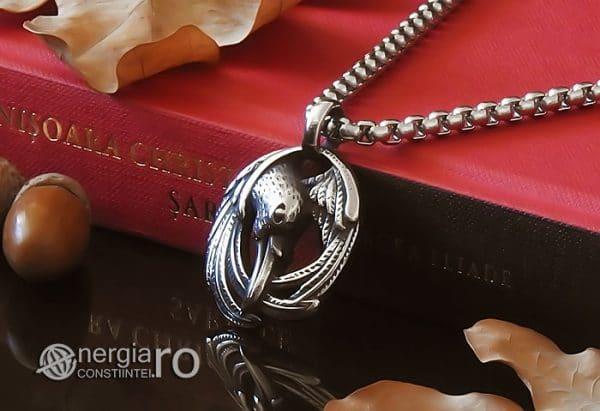 amuleta-talisman-medalion-colier-pandant-pandantiv-corb-cioara-inox-longevitate-PND295-04
