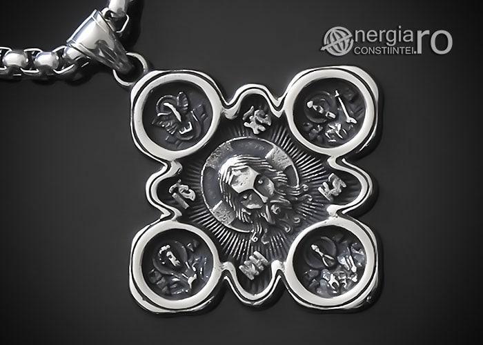 amuleta-talisman-medalion-colier-pandant-pandantiv-cruce-cruciulita-iisus-hristos-isus-cristos-inox-PND310-00