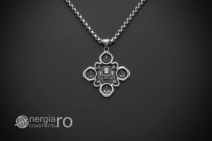 amuleta-talisman-medalion-colier-pandant-pandantiv-cruce-cruciulita-iisus-hristos-isus-cristos-inox-PND310-01