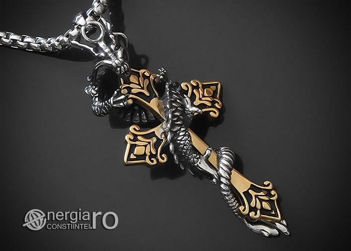amuleta-talisman-medalion-colier-pandant-pandantiv-dragon-incolacit-cruce-cruciulita-protector-protectoare-inox-PND268-00