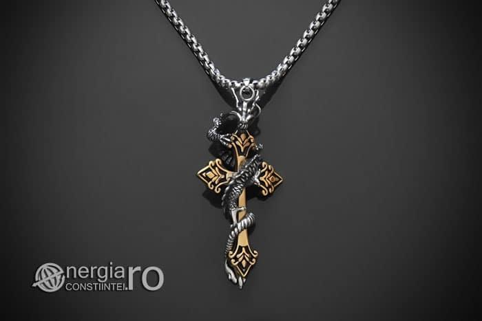 amuleta-talisman-medalion-colier-pandant-pandantiv-dragon-incolacit-cruce-cruciulita-protector-protectoare-inox-PND268-01