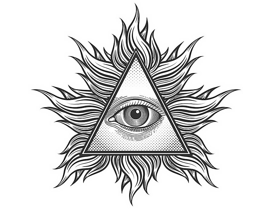 ce-simbolizeaza-ochiul-providentei-in-triunghi-si-cerc