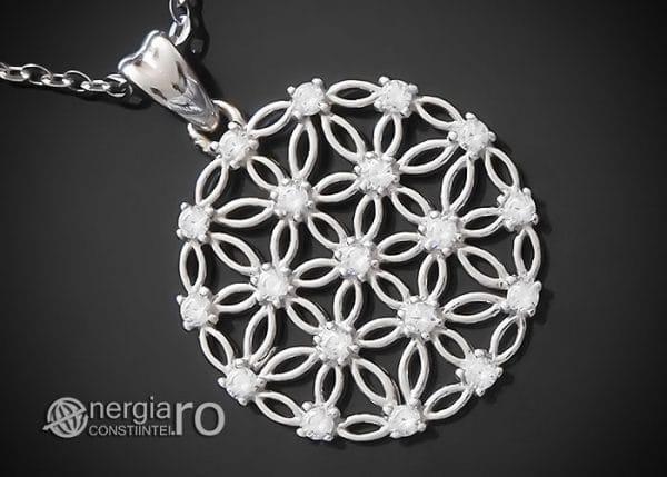 amuleta-talisman-medalion-colier-pandant-pandantiv-floarea-vietii-argint-925-protector-protectie-protectoare-PND600-00