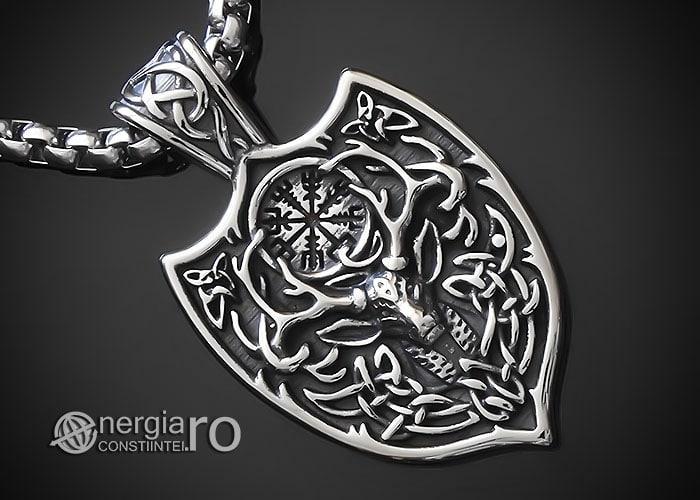 amuleta-talisman-medalion-colier-pandant-pandantiv-cerb-roata-norocului-vegvisir-protector-protectie-protectoare-inox-PND276-00