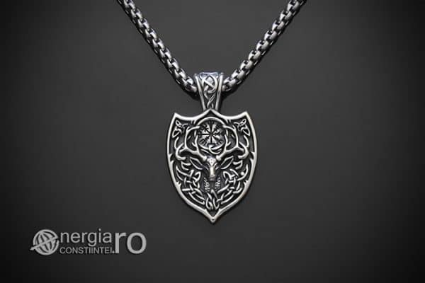amuleta-talisman-medalion-colier-pandant-pandantiv-cerb-roata-norocului-vegvisir-protector-protectie-protectoare-inox-PND276-01