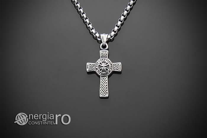 amuleta-talisman-medalion-colier-lant-lantisor-pandant-pandantiv-cruciulita-cruce-malteza-de-fier-protectie-protectoare-protector-inox-PND075-01