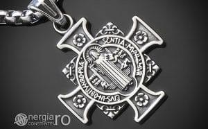 amuleta-talisman-medalion-colier-pandant-pandantiv-cruce-cruciulita-sfantul-sf-benedict-protector-protectie-protectoare-inox-PND380-00